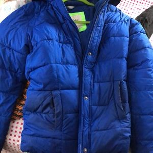 Abercrombie and Fitch Puffer Coat, Size L, Cobalt